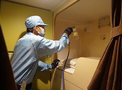 抗ウイルス・抗菌加工の実施